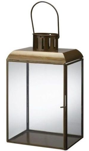 Lantaarn 27 cm messing goud uit de woonaccessoires Pronto Wonen Lowik Meubelen Messing goud