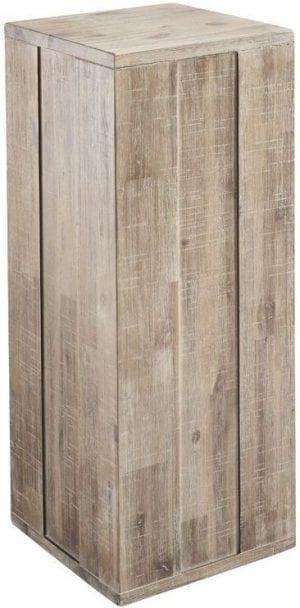 Pedestal Bassano H75 acacia light grey uit de woonprogramma Pronto Wonen Lowik Meubelen Uitgevoerd in de kleur acacia light grey.