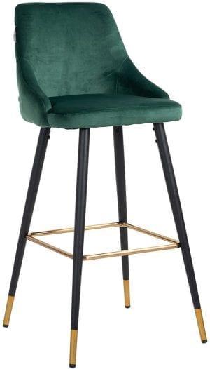 Barstoel Imani Green Velvet Green Velvet Stof: Quartz Green 100% Polyester, uit de Stoelen collectie - Barstoelen - Löwik Wonen & Slapen Vriezenveen