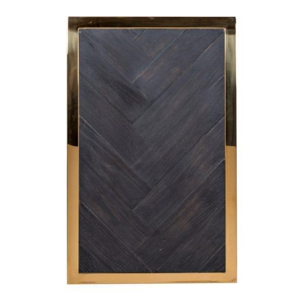 Bijzettafel Blackbone goud  Top: Oak