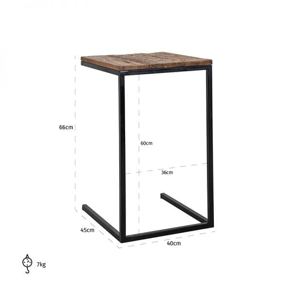 Legs: Iron, uit de Raffles collectie - Salon- & Bijzettafels - Löwik Wonen & Slapen Vriezenveen