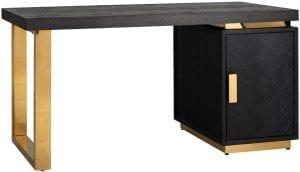 Bureau Blackbone gold 1-deur  Top: Eiken