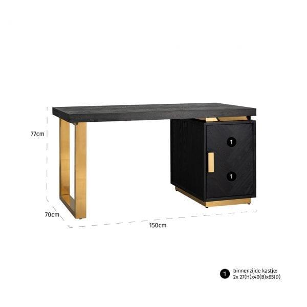 Frame: RVS, uit de Blackbone Gold collectie - Klein meubels - Löwik Wonen & Slapen Vriezenveen