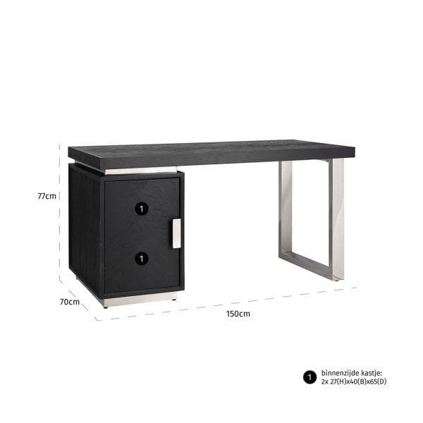Frame: RVS, uit de Blackbone Silver collectie - Klein meubels - Löwik Wonen & Slapen Vriezenveen