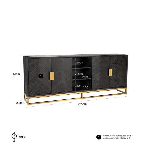 Frame: RVS, uit de Blackbone Gold collectie - Dressoirs - Löwik Wonen & Slapen Vriezenveen