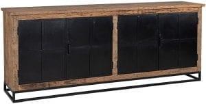 Dressoir Raffles 4-deuren, gerecyceld hout  Top: Gerecycled hout