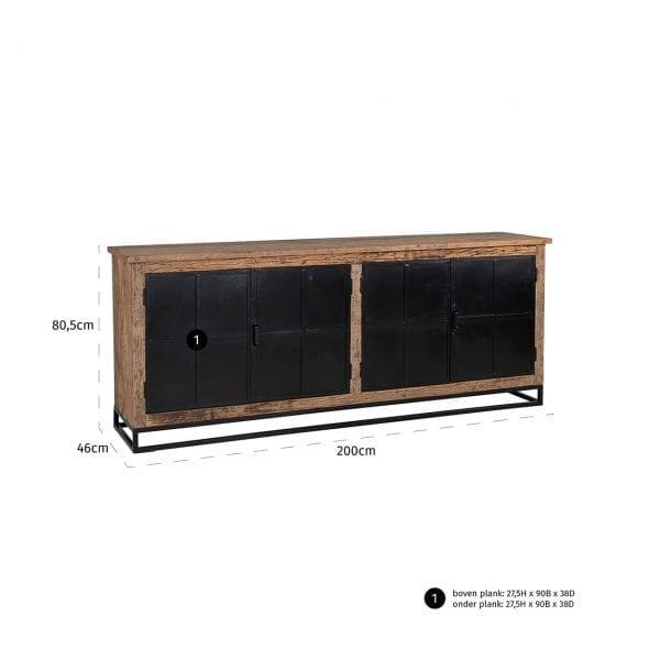 Frame: Ijzer, uit de Raffles collectie - Dressoirs - Löwik Wonen & Slapen Vriezenveen