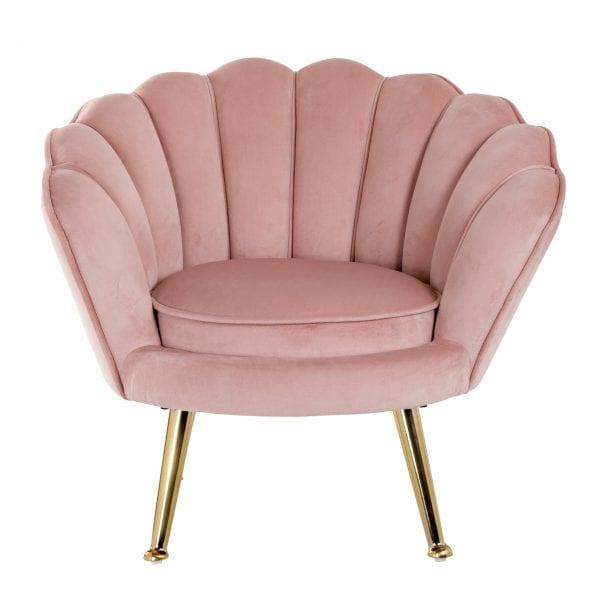 Kinderstoel Charly Pink velvet / gold In al onze casa en juke kleuren Wood/Foam/Fabric/Stainless Steel, uit de Stoelen collectie - Fauteuils - Löwik Wonen & Slapen Vriezenveen