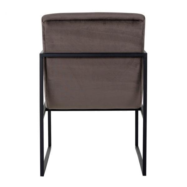 Stoel Clara Stone velvet / black Stone Velvet Fabric: Quartz Stone 100% Polyester / Stee, uit de Stoelen collectie - Stoelen - Löwik Wonen & Slapen Vriezenveen