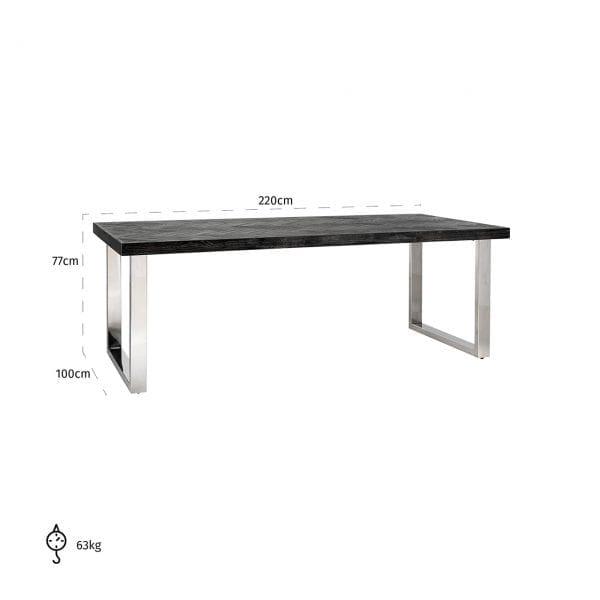 Poten: RVS, uit de Blackbone Silver collectie - Eettafels - Löwik Wonen & Slapen Vriezenveen