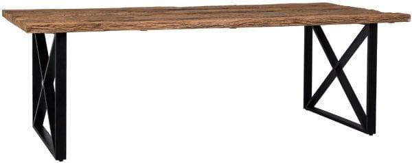Eettafel Industrial Kensington 180x100  Top: Recycled Wood