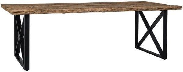 Eettafel Industrial Kensington 200  Iron/Recycled wood, uit de Industrial Kensington collectie - Eettafels - Löwik Wonen & Slapen Vriezenveen
