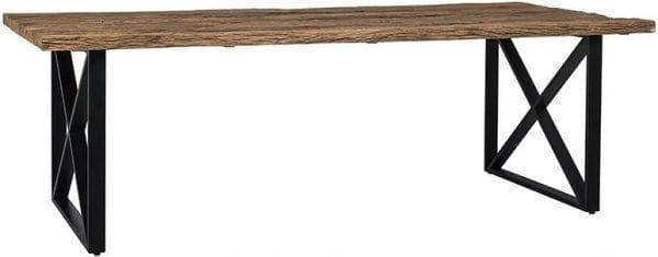 Eettafel Industrial Kensington 240  Iron/Recycled wood, uit de Industrial Kensington collectie - Eettafels - Löwik Wonen & Slapen Vriezenveen