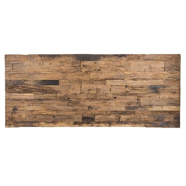 Eettafel Kensington 240x100  RVS/Recycled hout, uit de Shiny Kensington, Bestsellers collectie - Eettafels - Löwik Wonen & Slapen Vriezenveen