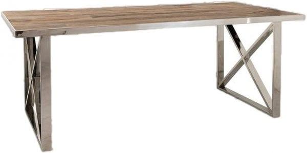 Eettafel Redmond 240x100 met kruispoten  Top: Old Elm wood Natural
