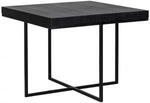 Hoektafel Oakura 60x60 Zwart Top: Oak veneer