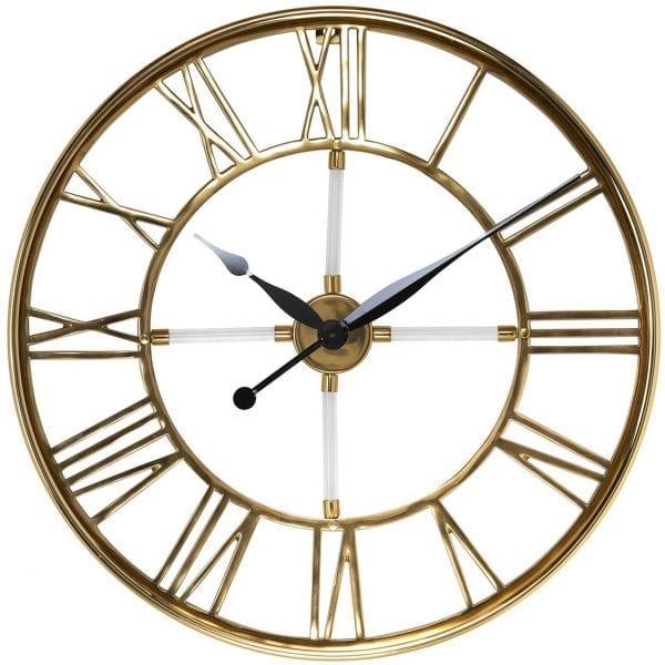 Clock Bryson  RVS / Aluminium / Glas / Acrylic, uit de Richmond Decoration collectie - Klokken - Löwik Wonen & Slapen Vriezenveen