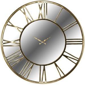 Clock Greyson  RVS / Aluminium / Spiegel, uit de Richmond Decoration collectie - Klokken - Löwik Wonen & Slapen Vriezenveen