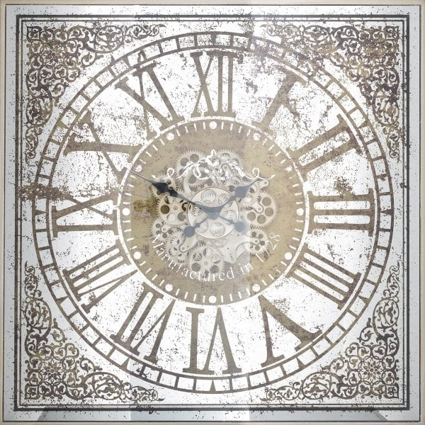 Clock Owen Square  Metaal / Keramiek / plastic, uit de Richmond Decoration, Bestsellers collectie - Accessoires - Löwik Wonen & Slapen Vriezenveen