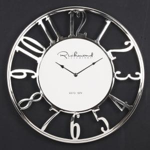 Clock Westin metal Wit/Zilver Aluminium/glas, uit de Richmond Decoration collectie - Accessoires - Löwik Wonen & Slapen Vriezenveen