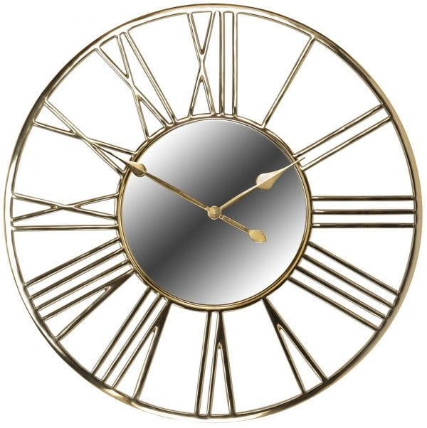 Clock Willson  RVS / Aluminium / Spiegel, uit de Richmond Decoration collectie - Klokken - Löwik Wonen & Slapen Vriezenveen