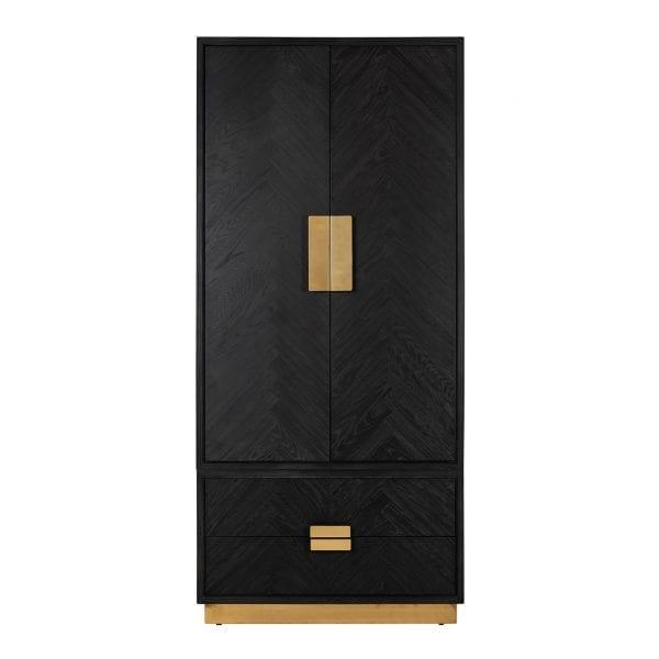 Linnenkast Blackbone gold 2-deuren 2-laden  Frame: Eiken / RVS, uit de Blackbone Gold collectie - Kasten - Löwik Wonen & Slapen Vriezenveen