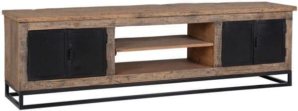 TV-Dressoir Raffles 4-deuren, gerecyceld hout  Top: Gerecycled hout