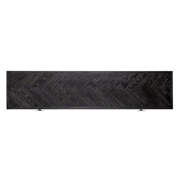 TV-dressoir 185 Blackbone silver 4-deuren  Top: Eiken