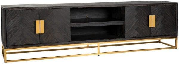 TV-dressoir 220 Blackbone goud 4-deuren  Top: Eiken