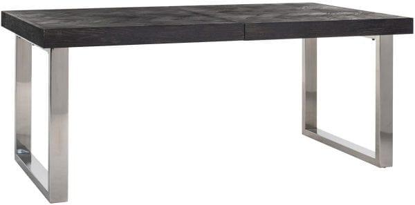 Uitschuiftafel Blackbone silver 195(265)  Top: Eiken