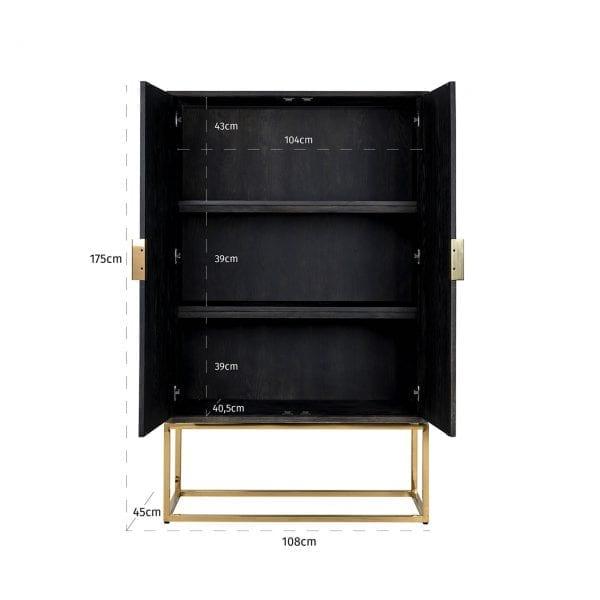Legs: Stainless Steel, uit de Blackbone (gold) collectie - Wandkasten - Löwik Wonen & Slapen Vriezenveen