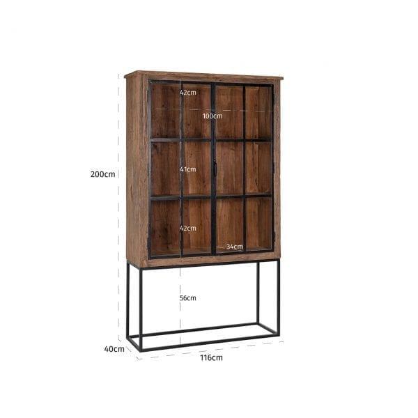 Frame: Ijzer / Glas, uit de Raffles collectie - Wandkasten - Löwik Wonen & Slapen Vriezenveen