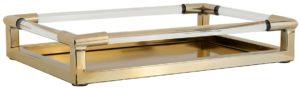 Dienblad Caydon goud  Glas/Staal, uit de Richmond Decoration collectie - Accessoires - Löwik Wonen & Slapen Vriezenveen