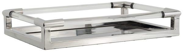 Dienblad Cayle zilver  Glas/Staal, uit de Richmond Decoration collectie - Accessoires - Löwik Wonen & Slapen Vriezenveen