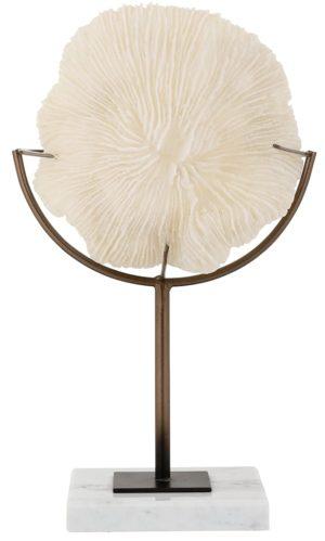 Faux koraal Jada op standaard  Polyresin/Metaal/Marmer, uit de Richmond Decoration collectie - Accessoires - Löwik Wonen & Slapen Vriezenveen