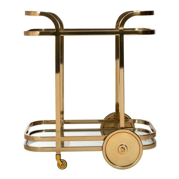 Trolley X.O. goud met glas Goud Top: Glass 8mm