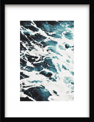 Blue Wave Art wandkleed Urban Cotton, design  -  Enhanced Matte Fine Art Paper