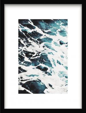 Blue Wave Art wandkleed Urban Cotton, design  - Enhanced Matte Fine Art Paper