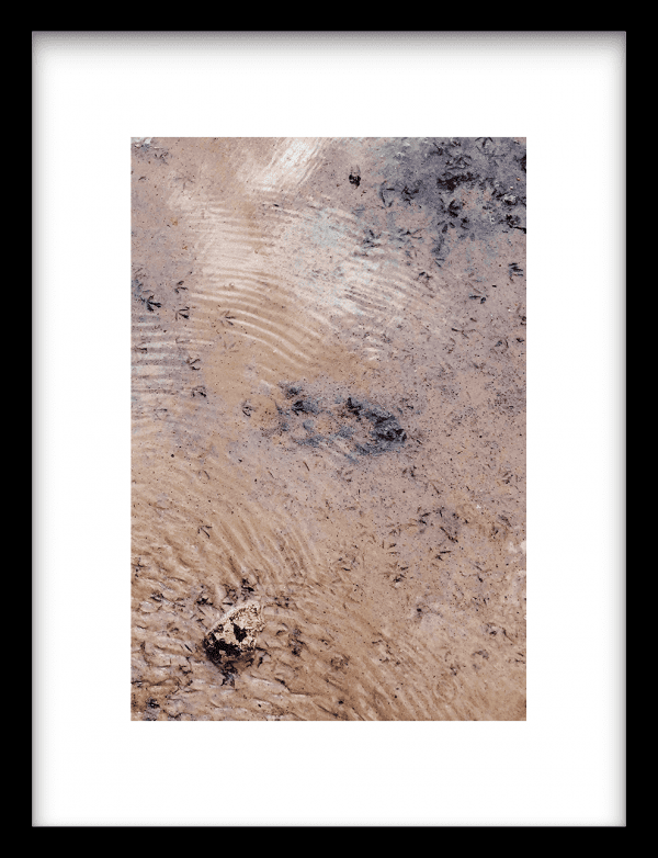 Blue covered sand wandkleed Urban Cotton, design  - Enhanced Matte Fine Art Paper