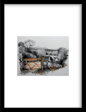 Burdwardsley, Cheshire wandkleed Urban Cotton, design  - Fine Art Paper