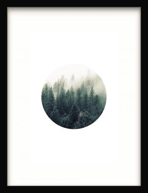 Contemporary Forest wandkleed Urban Cotton, design  - Enhanced Matte Fine Art Paper