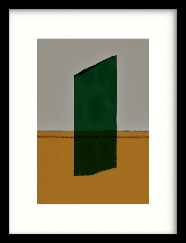 Geen mosgroen wandkleed Urban Cotton, design  - Enhanced Matte Fine Art Paper