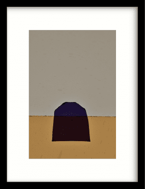Geen paars wandkleed Urban Cotton, design  - Enhanced Matte Fine Art Paper