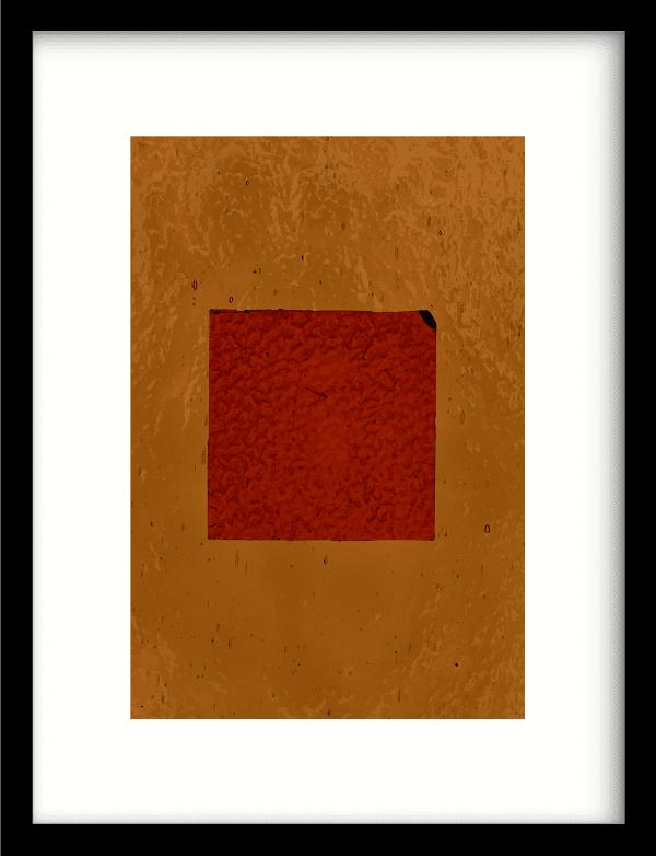 Geen rood wandkleed Urban Cotton, design  - Enhanced Matte Fine Art Paper