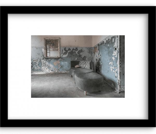 Green sofa wandkleed Urban Cotton, design  - Enhanced Matte Fine Art Paper
