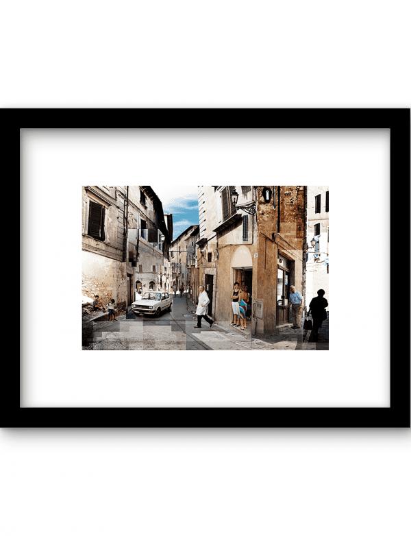 Italiaans straatje wandkleed Urban Cotton, design  - Enhanced Matte Fine Art Paper