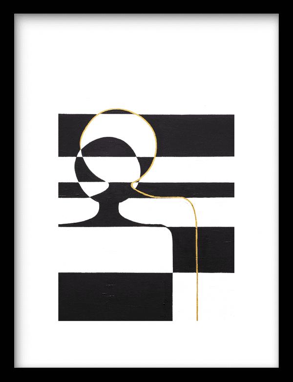 Just the two of us wandkleed Urban Cotton, design  - Enhanced Matte Fine Art Paper