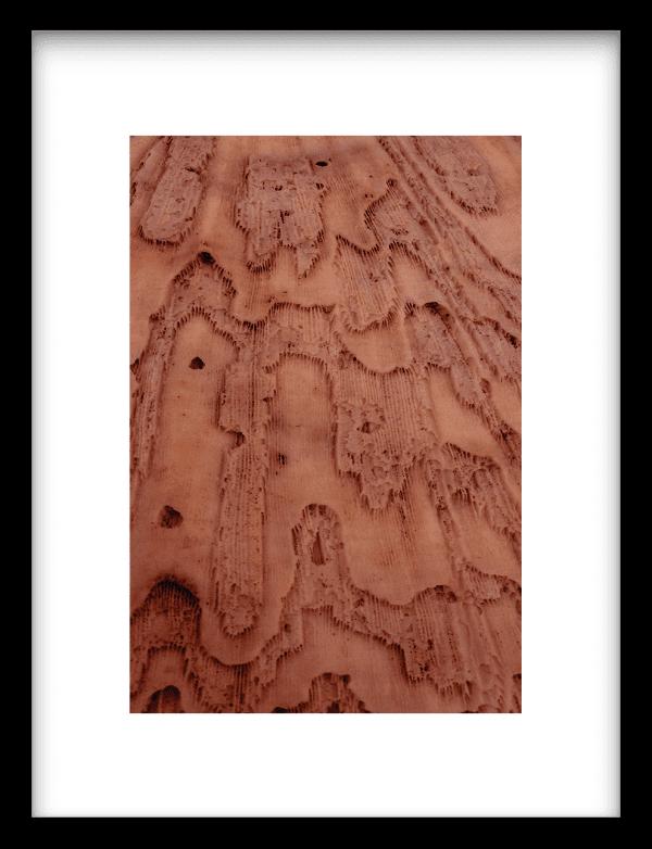 Layered pink brains wandkleed Urban Cotton, design  - Enhanced Matte Fine Art Paper