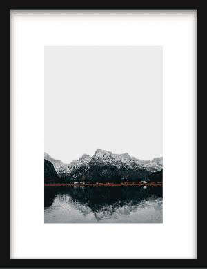 Nordic Mountain wandkleed Urban Cotton, design  - Enhanced Matte Fine Art Paper