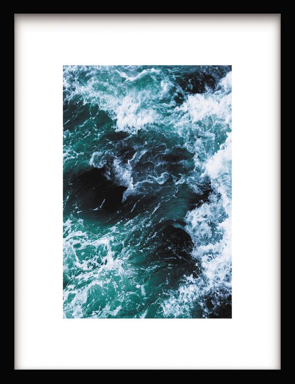Ocean Water wandkleed Urban Cotton, design  - Enhanced Matte Fine Art Paper